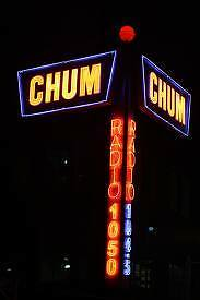 I am looking for Chum radio charts, from 1050 CHUM
