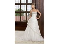 Never worn Ronald Joyce Livia wedding dress size 6 cost £1099, will sell for £700 ono