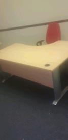 Maple managers corner office desk
