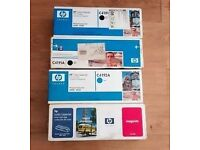 4 x New HP Toner Cartridges + Free HP Color LaserJet Printer Model No 4550 DN