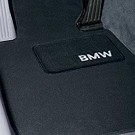 BMW Black Carpet Floor Mats w/Pad F10 5 Series Sedans 528i 535i 550i 82110440464