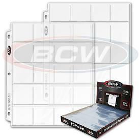 (50) BCW 20 pocket ALBUM PAGE for COIN Collection Collecting - FREE SHIP
