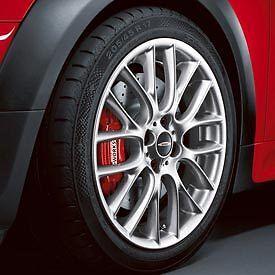 """Mini Cooper JCW 17"""" R112 Silver Challenge Rim Wheel New"""