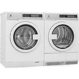 Electrolux EIFLS20QSW 24in Steam Washer 2.4 Cu.Ft and EIED2CAQSW