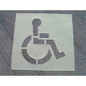 Parking Lot Line Striping Stencils Handicap No Parking Visitors Number Kit Alphabet Kit Baby Carriage Stop and more