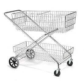 Global Wire Utility Basket Mail Cart - 200 Lbs Capacity - Brand New - Only $149!