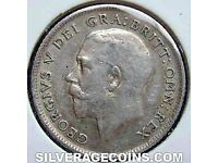 1918 GEORGE V SILVER SIX PENCE PLUS