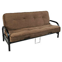 BRAND NEW BLACK FUTON FRAME WITH EXTRA THICK MATTRESS SALE !