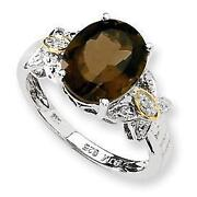 Sterling Silver Smokey Quartz Ring