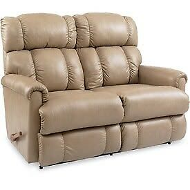 La-z-boy leather reclining love seat and chair