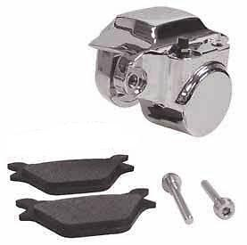 BRAKE-CALIPER-REAR-CHROME-HARLEY-DYNA-FXD-SUPER-GLIDE-FXDL-LOW-RIDER-1991-1999