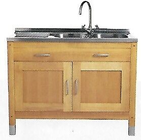 Free Standing Solid Beech Kitchen (M&S)- New /stored - Sink Unit ...