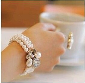 Fashion Temperament Pearl Crystal Bracelet