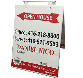 Real Estate Signs / Open House Signs / sandwich board signs