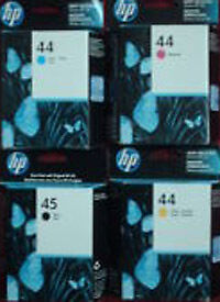 Full Set   Hp 44/45  Ink Carts G'teed  2010/2012