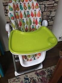 High chair Pesto Pear colour