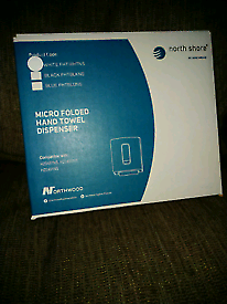 60 brand new North shore micro folded hand towel dispensers