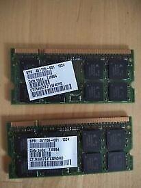 Laptop Memory 1GBx2