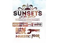 6 tickets to Sunsets on the Beach party - Example headlining
