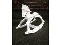Shabby Chic decoupaged wooden Rocking Horse