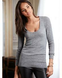 NEW! Victorias Secret 100% Pure Cashmere Sweater Size S fits S-M
