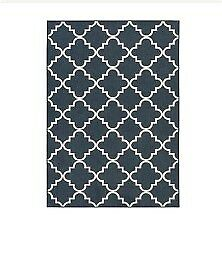 5 x 7 navy  blue area rug - indoor/outdoor