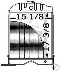 New Massey Radiator Fits 50 65 With Diesel Engine