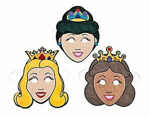 12-PRINCESS-COLOUR-IN-MASKS-KIDS-CHILDRENS-CRAFTS-MASK-CRAFT-FE-MSK-48-8754