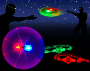 LED FRISBEES NEW 2 FOR $10.00 SALE