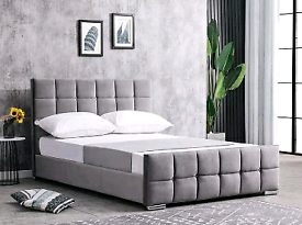 Cube double bed in any colour with or without mattress FREE DELIVERY