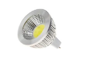 10-Pack, LED COB MR16, silver housing, Dimmable, Warm White