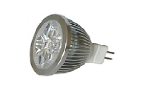 10-Pack, LED MR16, 5W, silver housing, Dimmable, Warm White