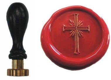 Udig Siegel Stempel Petschaft Kreuz 24 mm Siegelstempel Religion Kommunion