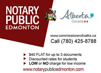 Commissioner of oaths / Notary Public, $ 40 FLAT!