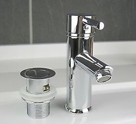 BRAND NEW High Quality Chrome Finish Single Lever Basin Sink Mixer Tap