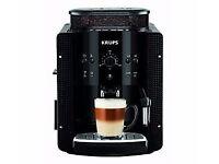 Coffee Espresso Maker Automatic Latte Cappuccino Machine Plus Nozzle Krups Black