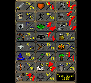 Selling 2 osrs accounts multiple 99's
