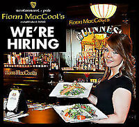 Fionn MacCools CrossIron is actively hiring Experienced Servers