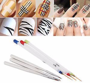 6 pcs beau dessin entrelacement Doublure conception Nail Pen.