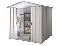 8' x 7' Yardmaster Silver Metal Shed 87ZGEY Cost £299 New SOLD