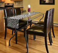 5 piece dining table + chairs