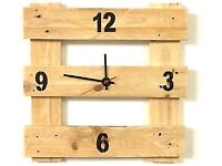 Pallet Clock Handmade Wooden Wall Clock Reclaimed Pallet Wood