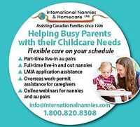 Full service Nanny placements and LMIA service