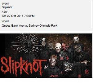 Slipknot/Lamb of God Concert General Admission Standing Sydney Campsie Canterbury Area Preview