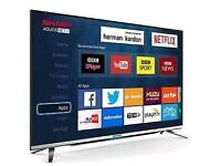 "New model SHARP 40"" LED TV ULTRA SLIM SMART WIFI TV HD FREEVIEW ."