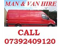 Collection Delivery Van Man & Van Hire House Removal Shifting White Goods Moving Flat rent a van