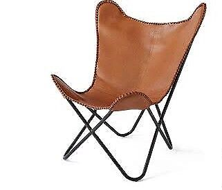 Leather Butterfly Chair (tan)