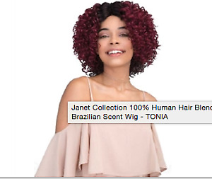 wig 100% human hair blend brazilian scent (Janet collection)