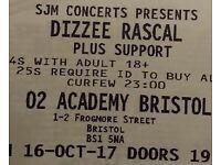 Dizzee Rascal tickets PAIR Bristol o2