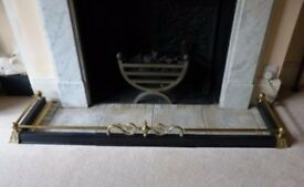 Brass hearth surround/fender/guard